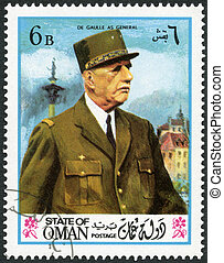 STATE OF OMAN - 1972: shows Charles de Gaulle (1890-1970) -...