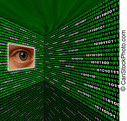 Spyware eye scanning binary code - Spyware eye scanning...