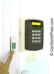 Key Code for Lock the door on white background