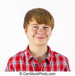 smiling happy cute boy