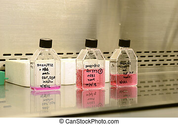 Media for Cell Culture - Close up of Media for Cell Culture...