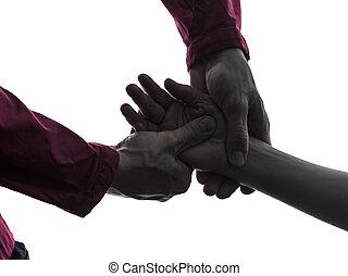 mão, massagem, terapia