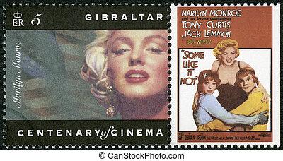 GIBRALTAR - CIRCA 1995: A stamp printed in Gibraltar shows...