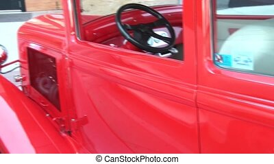 20s Classic Gangster Car - Vintage 1920s shiny red gangster...