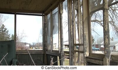 Abandoned Front Porch - View from abandoned front porch with...