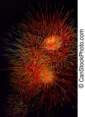 fireworks in the night of paris france - beautiful fireworks...