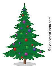 Fir tree with Christmas balls