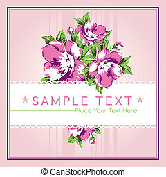 Chintz Background - Vintage style vector background with...
