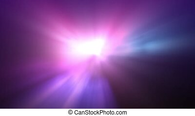 Aurora Fog - Light rays shine through a foggy purple aurora...