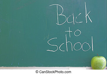 Chalkboard - Back to School - A green chalkboard - Back to...