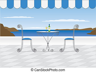 Santorini Cafe - A Santorini style cliff top restaurant