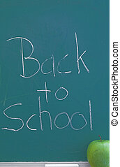 Chalkboard - Back to School - A green chalkboard - Back to...