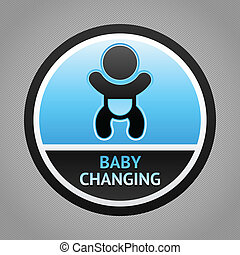 Symbol baby changing - Symbol for women and baby , baby...