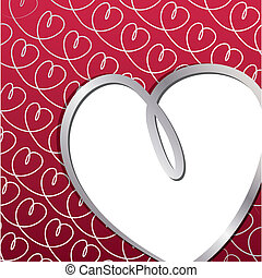 Hand Drawn Heart Card - Bright hand drawn heart card in...