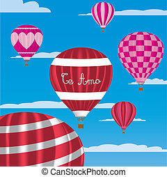 "Valentine Hot Air Balloons - ""I Love You"" hot air balloons..."