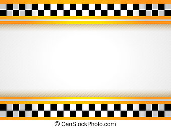Taxi background. Checkered black and white backdrop. 10eps.