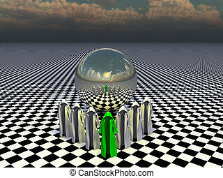 The memory sphere - Seemingly empty cloaks that should...