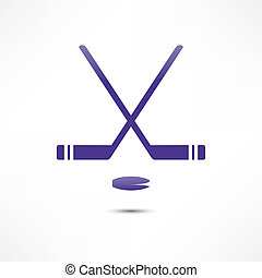 Hockey Stick And Puck Icon