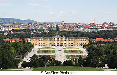 Schonbrunn Palace - The Schonbrunn Palace in Vienna,...