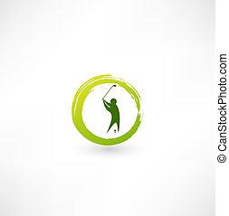 Golfer icon.