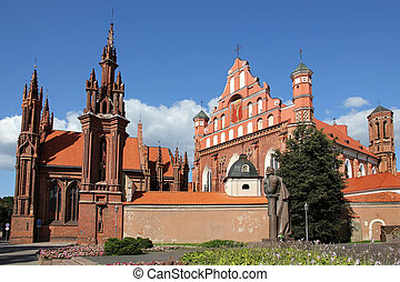 St Annas Church in Vilnius, Lithuania - St Annas Church and...