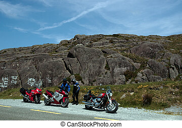 motorbike tour 1 - motorcyclists out on a day of touring the...