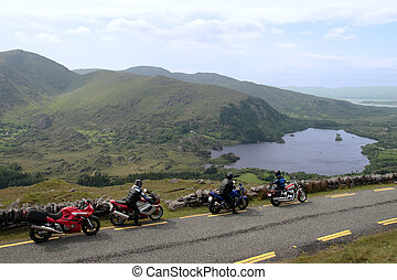 motorbike tour 2 - motorcyclists out on a day of touring the...