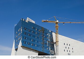 Modern Construction - A modern building under construction...