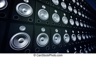 Speaker Wall.  - Woofer speakers.