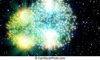 Fireworks - Backgound - Animation on Silvester - Fireworks -...