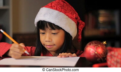 Picture For Santa Claus-Close Up - A cute six year old Asian...