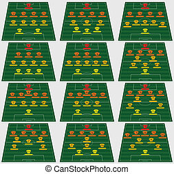 Football Tactic - Tactical schemes in football