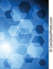 Bright blue hi-tech background - Abstract technology design....