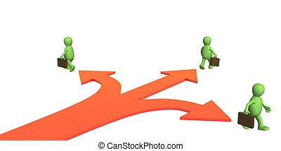Different direction - Concept - different direction in...