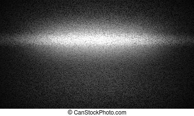 TV Static - Noise, static, and vertical lines on a TV with...