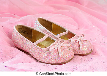 little princess shoes - little girls pink sparkly make...