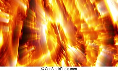 Majestic Fire Aurora - Majestic fire aurora slowly flows...