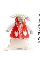 handmade toy bunny - handmade toy cute litlle New Year...
