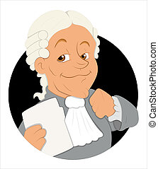 Magistrate Cartoon Vector - Creative Conceptual Design Art...