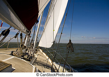 sailing on open water