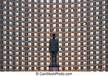 Monument to General Charles de Gaulle. Hotel Cosmos (Cosmos)