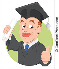 Graduation Day Vector Character - Creative Abstract...