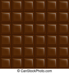 Chocolate Background With Gradient Mesh, Vector Illustration