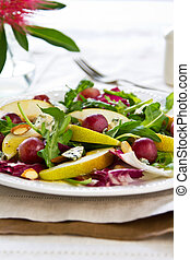Pear with Grape and Blue cheese salad - Pear with Grape,Blue...