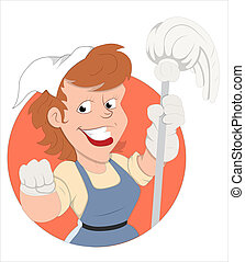 Housekeeper Vector Illustration - Creative Abstract...
