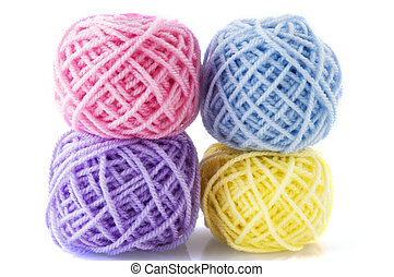 wool in different colors