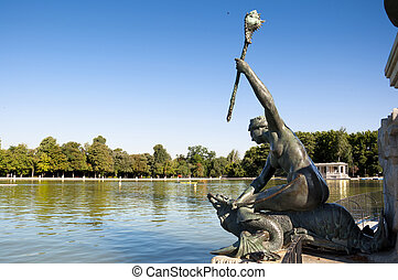 Bronze Siren - It is part of Monument to King Alfonso XII,...