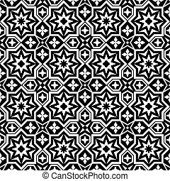 Abstract ornamental seamless pattern background black and...