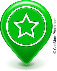 Favorite Icon Map Pin - Favorite Map Icon Map Pin green with...