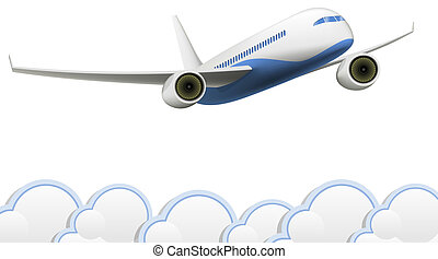 Aeroplane - Vector isolated Aeroplane on white background...